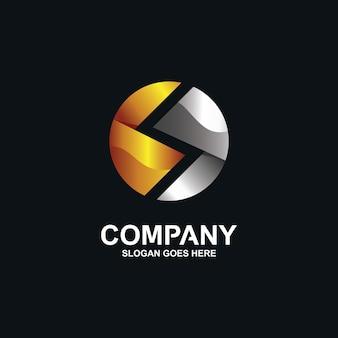 Logotipo da letra s no círculo
