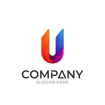 Logotipo da letra u criativo