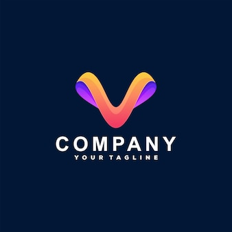 Logotipo da letra v