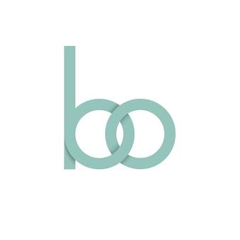 Logotipo da letra verde bo