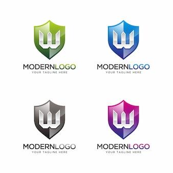 Logotipo da letra w com cor da opção