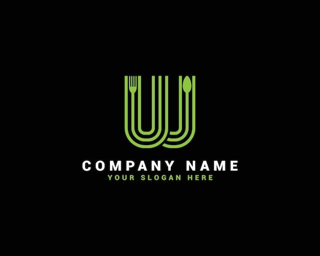 Logotipo da letra w, logotipo da letra w food, w logotipo da letra da colher