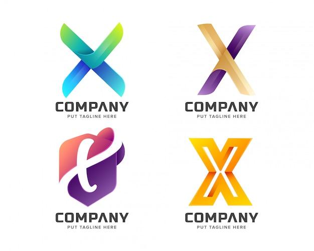 Logotipo da letra x criativo para empresa