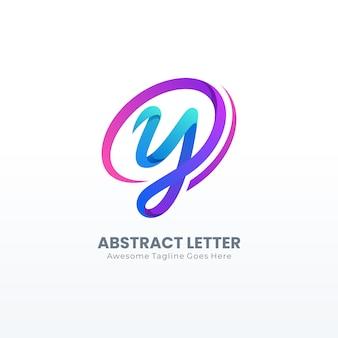 Logotipo da letra y abstrata