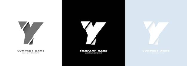 Logotipo da letra y do alfabeto da arte abstrata. design quebrado.