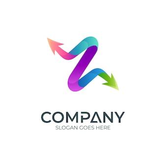 Logotipo da letra z com setas