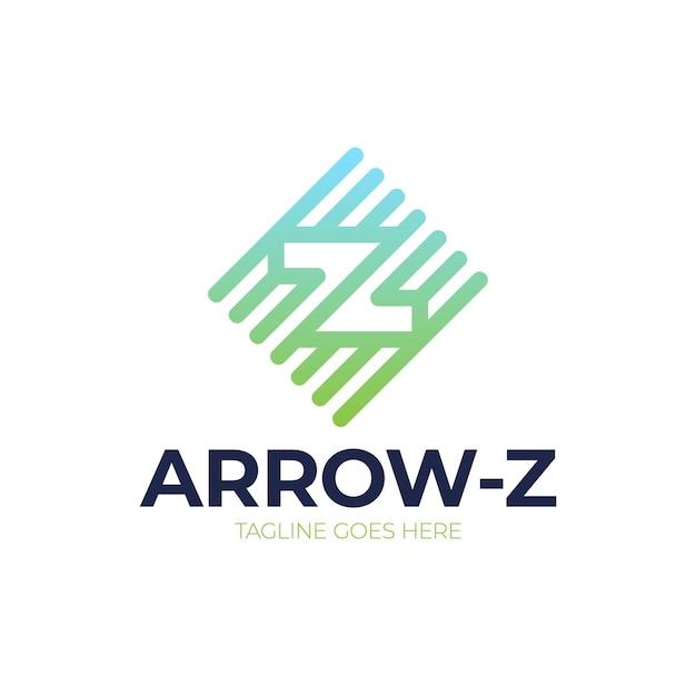 Logotipo da letra z inicial abstrato. linha de seta letra z