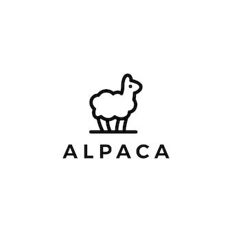 Logotipo da lhama de alpaca