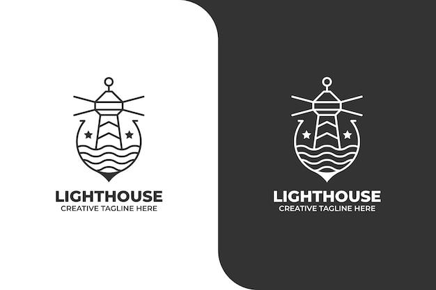 Logotipo da lighthouse monoline