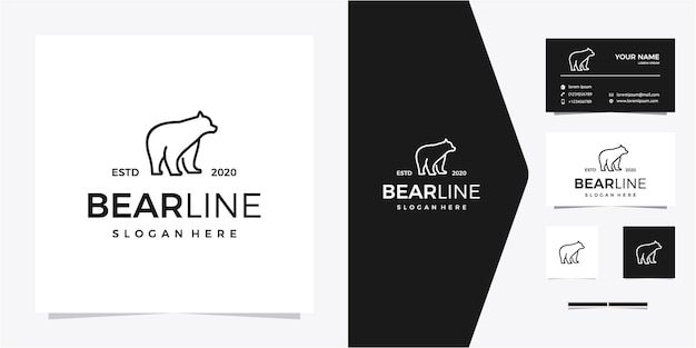Logotipo da linha de urso