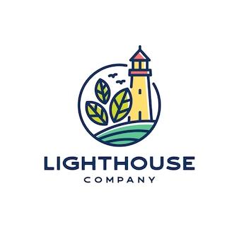 Logotipo da linha lighthouse naturals