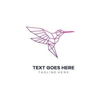 Logotipo da linha mono pássaro