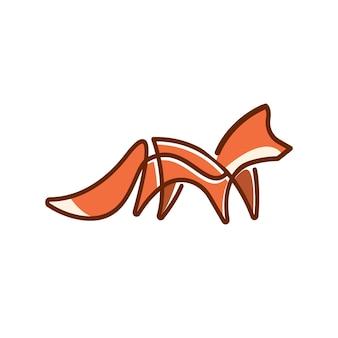 Logotipo da little fox monoline