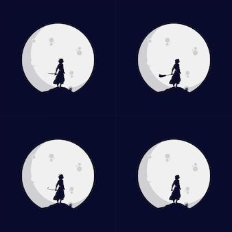 Logotipo da little kids reach dreams com o símbolo da lua