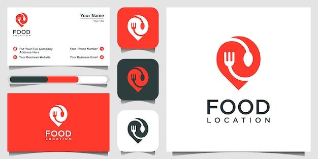 Logotipo da localização da comida
