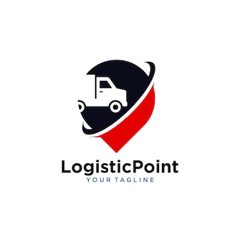 Logotipo da localização logística