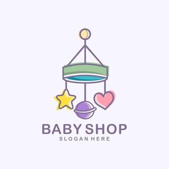 Logotipo da loja de bebês