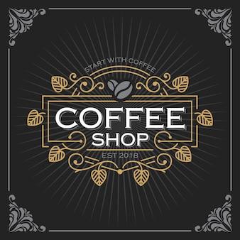 Logotipo da loja de café