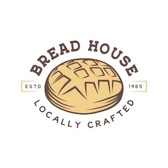 Logotipo da loja de padaria vintage