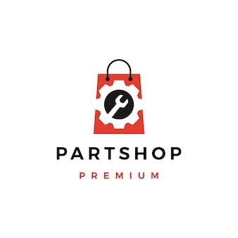 Logotipo da loja de peças sobressalentes automotivas
