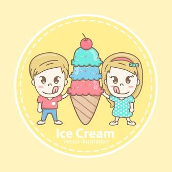 Logotipo da loja de sorvete