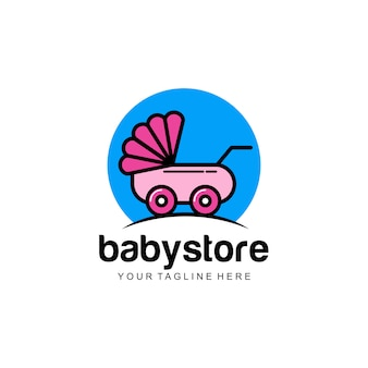 Logotipo da loja do bebê
