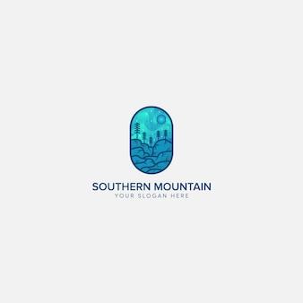Logotipo da luz da montanha do sul