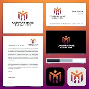 Logotipo da m peopel e cartão de visita