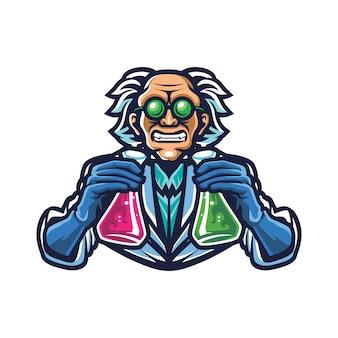 Logotipo da mad scientist esport