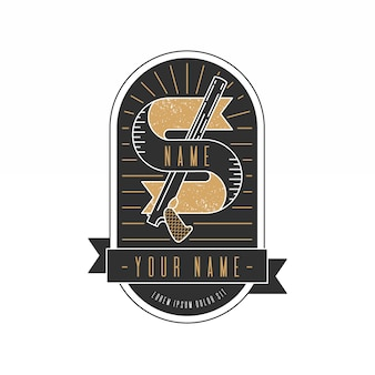 Logotipo da máfia retrô