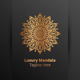 Logotipo da mandala ornamental de luxo, estilo arabesco.