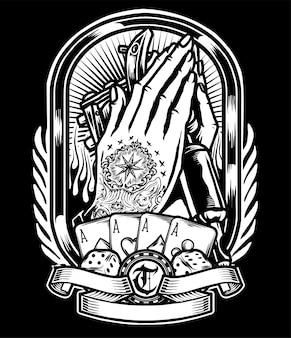 Logotipo da mão do tatuagem