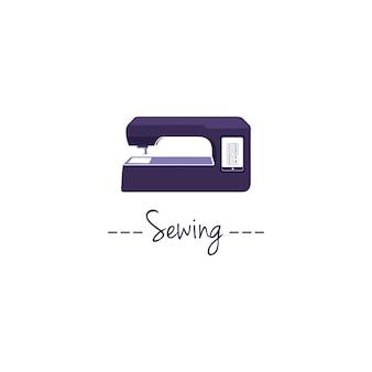 Logotipo da máquina de costura digital