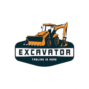 Logotipo da máquina escavadora