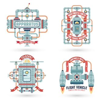 Logotipo da maquinaria
