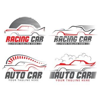 Logotipo da marca de formas de carro design plano