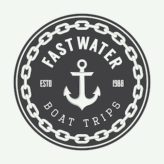 Logotipo da marinha vintage