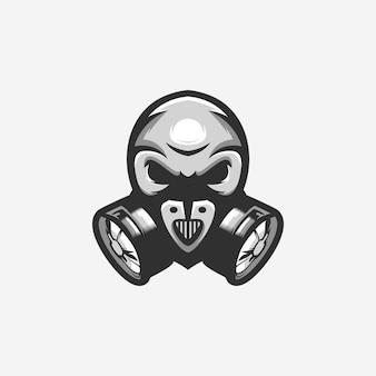 Logotipo da máscara de gás