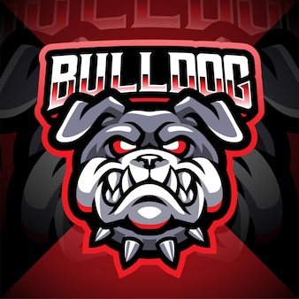 Logotipo da mascote bulldog head esport