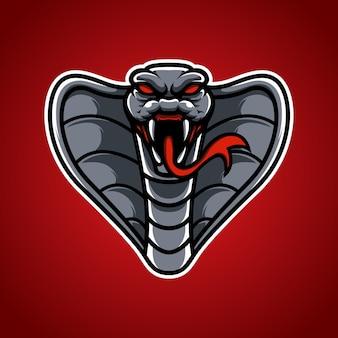 Logotipo da mascote cobra e sport