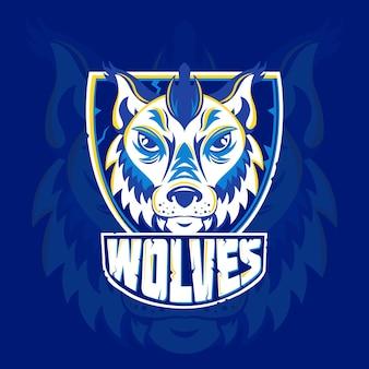 Logotipo da mascote criativa wold