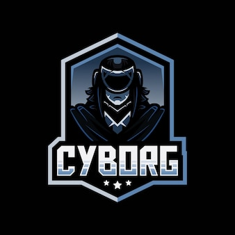 Logotipo da mascote cyborg assassin do esporte e da equipe de esportes