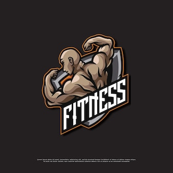 Logotipo da mascote da academia de ginástica