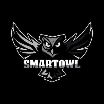 Logotipo da mascote da coruja