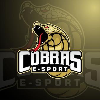 Logotipo da mascote da equipe cobra e-sports