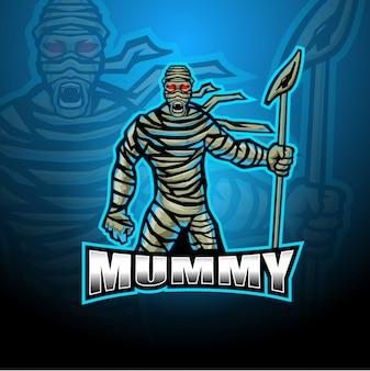 Logotipo da mascote da múmia