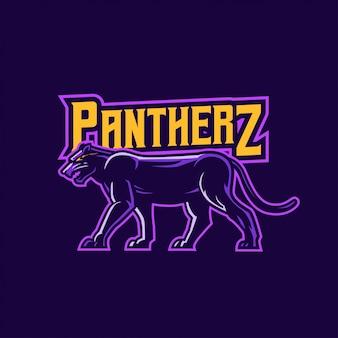 Logotipo da mascote da pantera