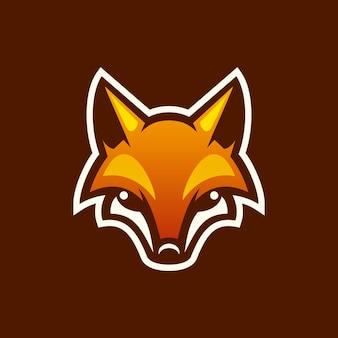 Logotipo da mascote da raposa