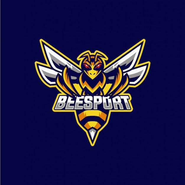Logotipo da mascote de abelha