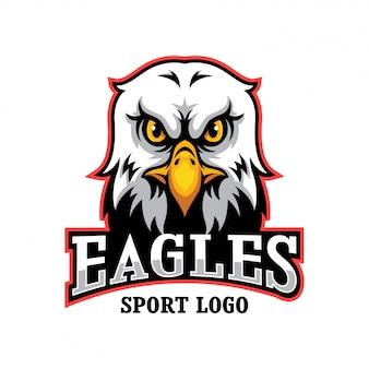 Logotipo da mascote de cabeça de águia